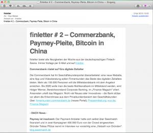 finletter ist der wöchentliche Fintech Newsletter per E-Mail. Nehmen Sie bei Fragen gerne Kontakt zu uns auf.