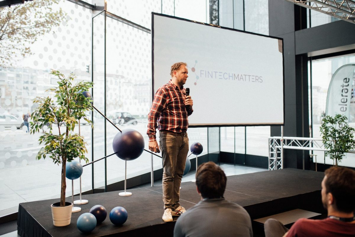 Clas Beese beim Fintech Matters Summit in Wien