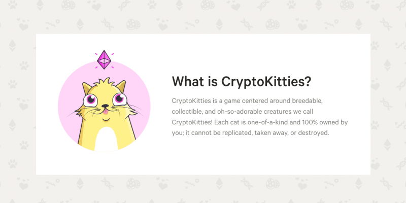 Screenshot von cryptokitties.co