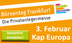 Börsentag Frankfurt – Anzeige im finletter