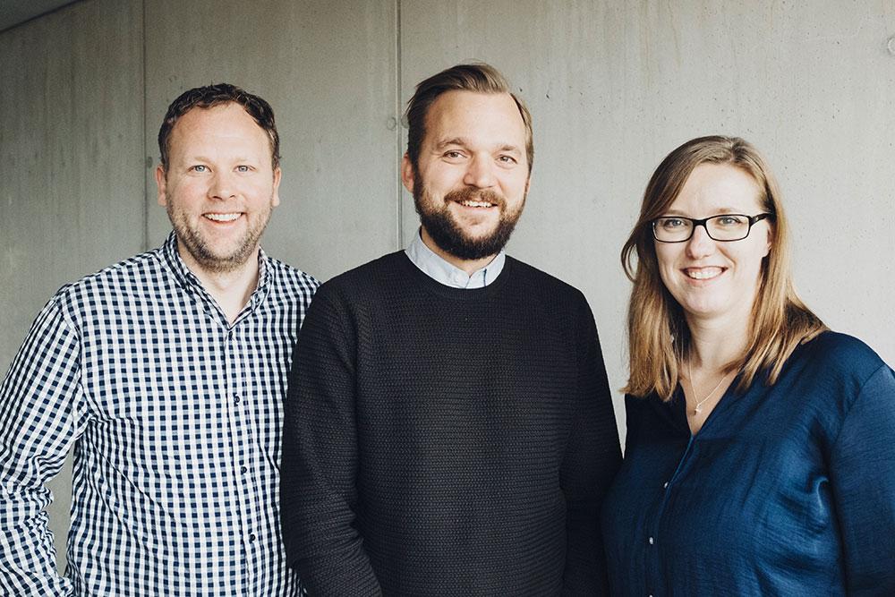 Fintech Week Gründer Clas Beese, Robert Beddies, Carolin Neumann (Foto: Kathrine Uldbæk Nielsen)