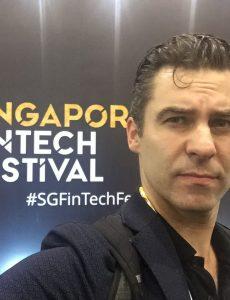 Nicholas Ziegert beim Singapore Fintech Festival