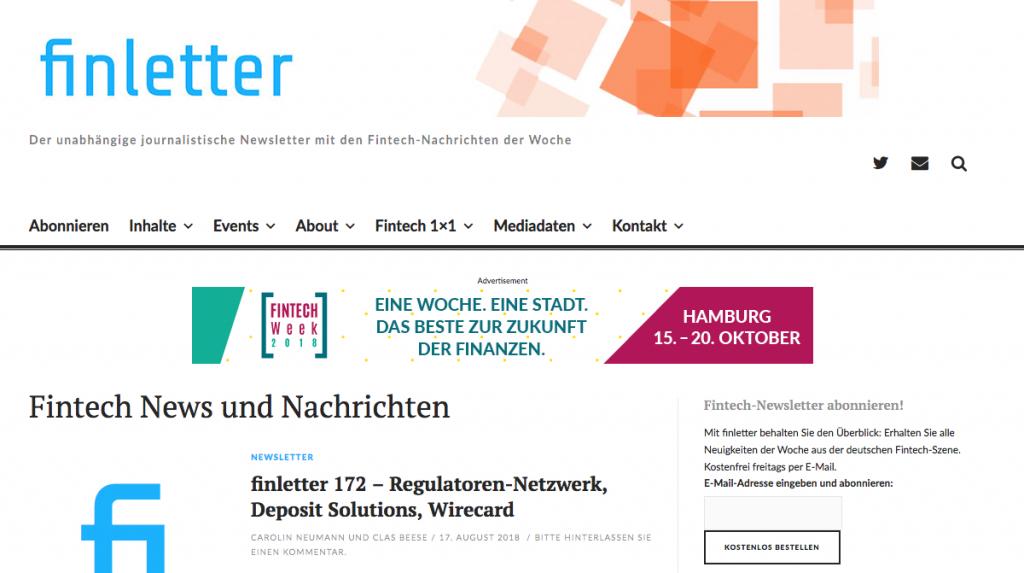 Banner auf finletter.de