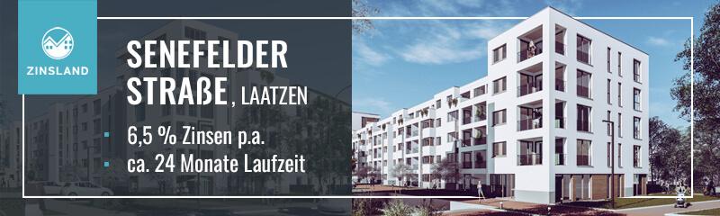 Projekt Senefelder Straße von Zinsland, Werbung im finletter