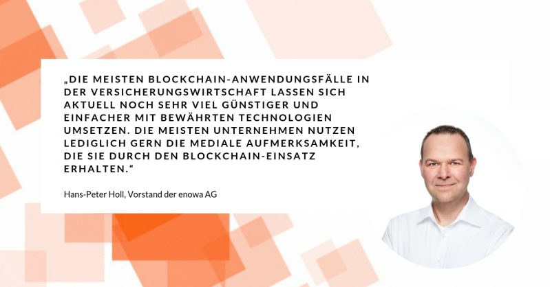 Insurtech-Quartett Mai 2019: Hans-Peter Holl zu Blockchain in der Versicherungswirtschaft