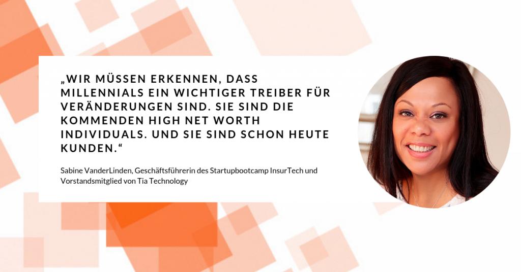 Sabine Vanderlinden im Insurtech-Quartett über Millennials