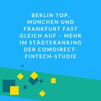 comdirect-Studie Fintech-Hubs Deutschland
