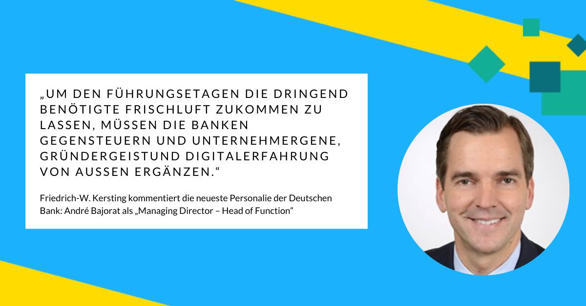 Friedrich-W. Kersting über Stallgeruch und Innovationsinfusionen von außen