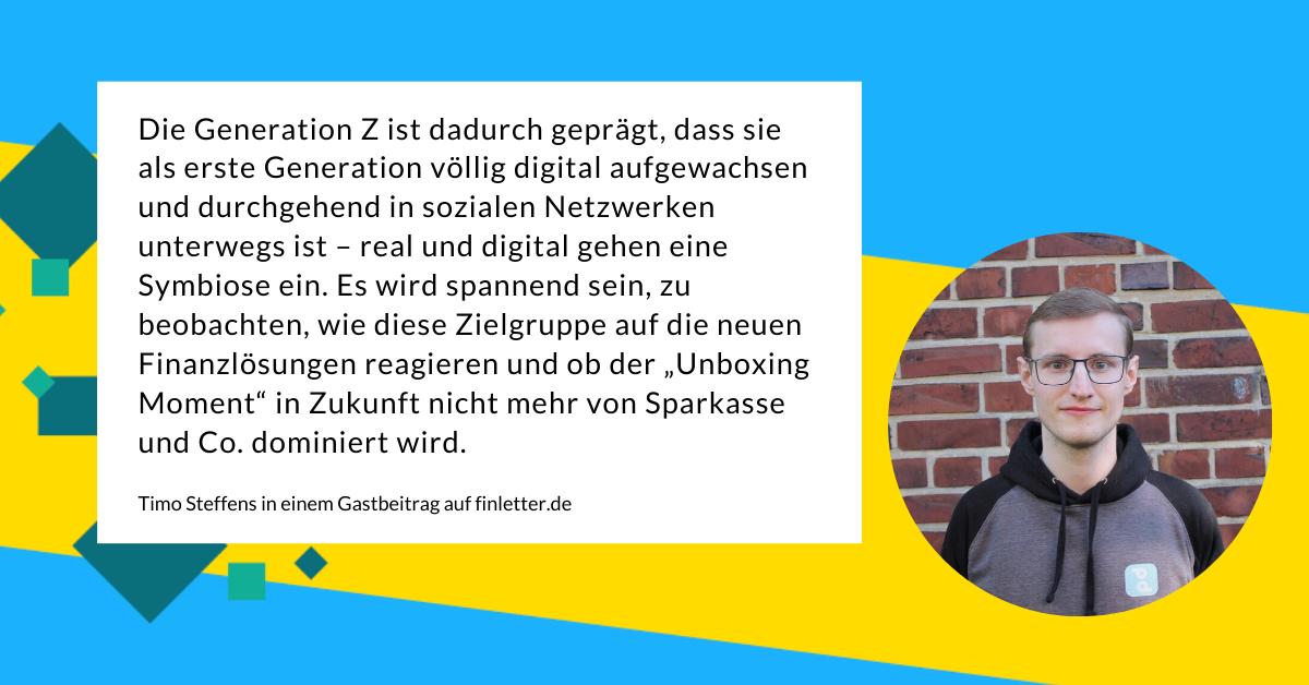 Übers Bankkonto für Jugendliche in der heutigen Zeit schreibt Timo Steffens vom Start-up pockid auf finletter.de