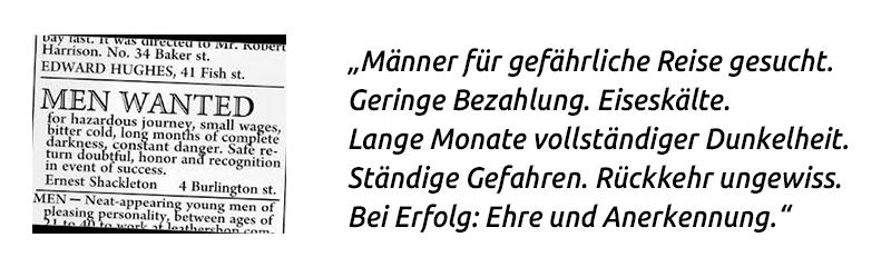 Anzeige Gravning auf finletter.de