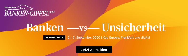 finletter-Werbung für Handelsblatt Banken-Gipfel 2020