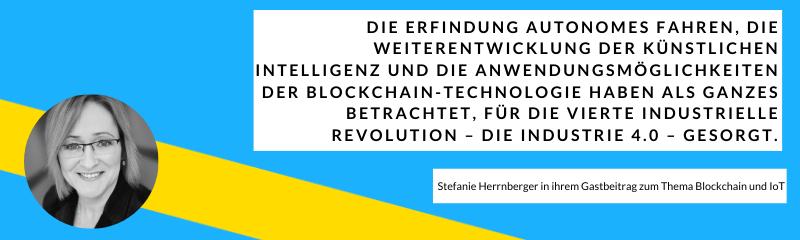 Stefanie Herrnberger im finletter zum Thema Blockchain