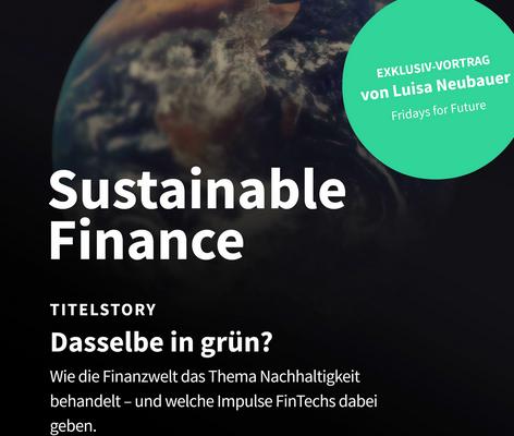 Titelblatt der 9. Ausgabe GOLDILOCKS zum Thema Sustainable Fintech
