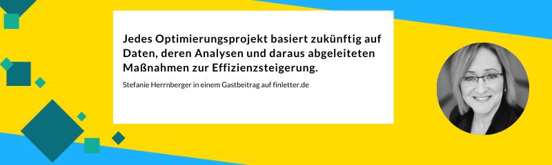 Stefanie Herrnberger in einem Gastbeitrag auf finletter.de