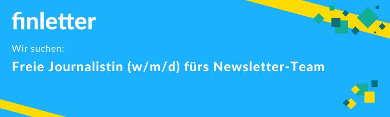 finletter sucht Unterstützung für die Newsletter-Redaktion