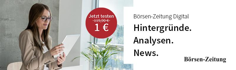 Anzeige der Börsen-Zeitung im finletter