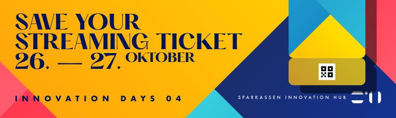 Ticket für die Sparkassen Innovation Days bekommen